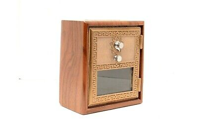 Handcrafted Post Office Coin Bank made with Vintage PO Box Door W/ Combination