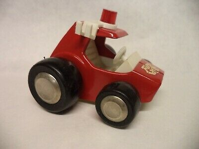 """Buddy L Vintage Little Red """"Fire Buggy"""" Pressed Steel 1970's No Ladders"""