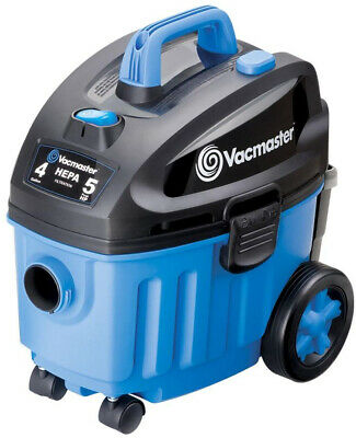 VACMASTER 4 Gal. Household Wet/Dry Vacuum with HEPA Filter, Blower Port, Casters