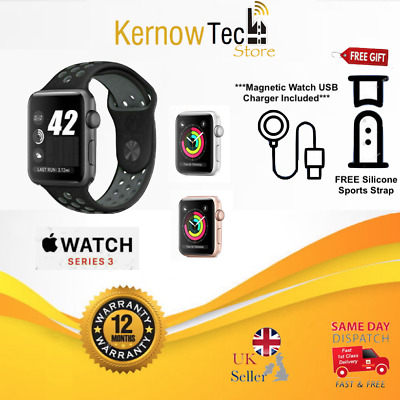 Apple Watch Series 3, 42mm Grey/Rose/Silver, Aluminium GPS/Cellular, FREE Strap