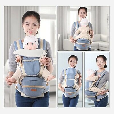 Newborn Ergonomic Baby Carrier Sling Wrap Backpack Front Back Ches With Hip Seat