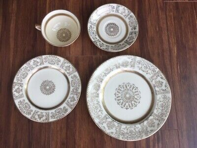 "Antique old vintage tea set 4 items ""Victorian"" Johnson Bros-cup,sauser,2plates"
