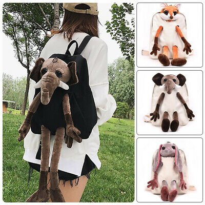 Women Girls Cute Plush Doll Backpack Kids School Rucksack Bag Casual Schoolbag