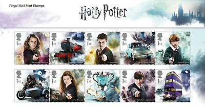 2018 Harry Potter Presentation Pack /MS. I Will Use A Potter Stamp As Postage.