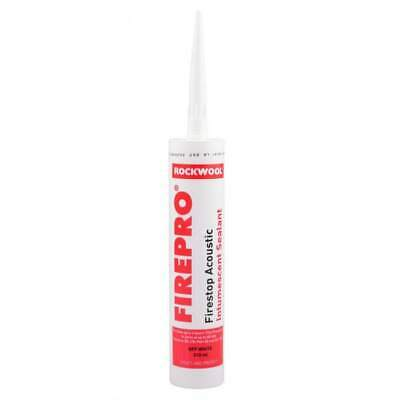 2 x Rockwool Red FirePro Acoustic Intumescent Sealant Off White 310ml