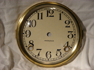 Antique Ingraham Clock Dial and Bezel