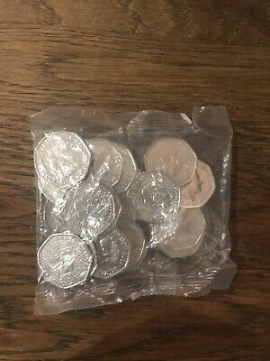 Full sealed bag of 20 x Brand New Uncirculated 2019 Sherlock Holmes 50p Coins