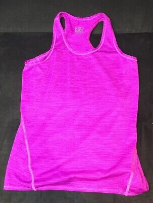 d9e43ad780645 ATHLETA GIRLS SIZE M 8-10 Black Sleeveless Athletic Tank with Built ...