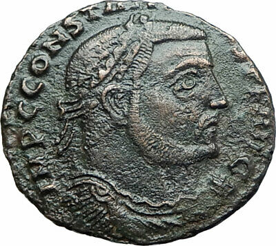 CONSTANTINE I the GREAT 312AD Authentic Ancient Roman Coin JUPITER ZEUS i78739