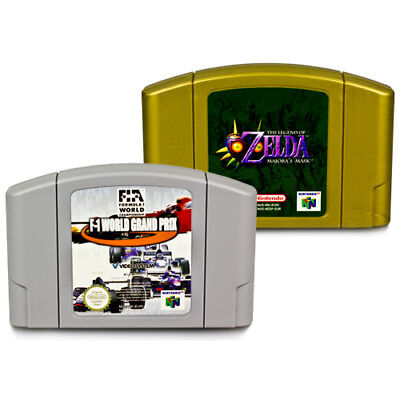 2 N64 - Nintendo 64 Juegos F1 World Grand Prix + Zelda Majora's Mask