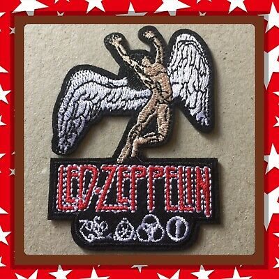 🇨🇦 Led Zeppelin Swan Song Embroidered Patch Sew On/stick On Cloth/new 🇨🇦#324