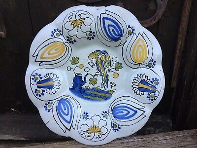 Superb Dutch Delft Lobed Charger 1680 Faience 17Th Century Delftware Tinglazed