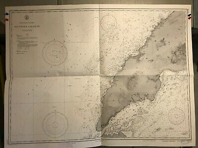 Philippines Islands Navigational Chart / Hydrographic Map # 4324 Palawan Passage