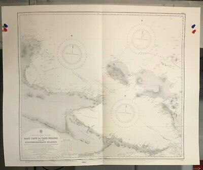 British New Guinea Navigational Chart Hydrographic Map # 938 Territory of Papua