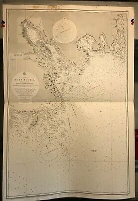 Nova Scotia Canada Navigational Chart / Hydrographic Map # 2410 South East Coast