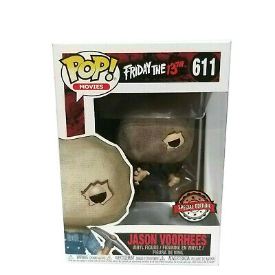 Funko Pop! Friday the 13th Jason Voorhees w/ Bag Mask Special Edition #611 New