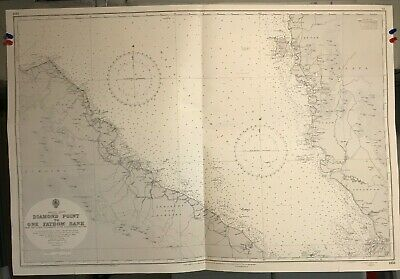 Malacca Strait Sumatra Navigational Chart Hydrographic Map 1353 One Fathom Bank