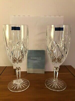 Marquis By Waterford Brookside Iced Beverage Glasses Set of 2 New