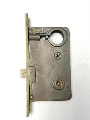 """B112 Antique Large Mortise Lock EARLE, plate 7 13/16"""" body 5 3/4"""" x 3 1/4"""" x 5/8"""
