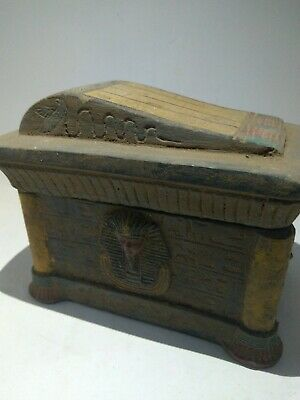 RARE ANTIQUE ANCIENT EGYPTIAN Jewellery Box Tutankhamun 1335 –1325 Bc