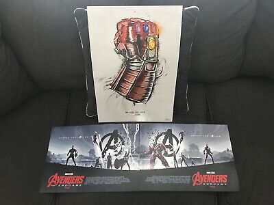 Marvel Avengers Endgame Exclusive AMC Love You 3000 & Opening Weekend Poster Set