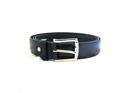 Men's Black Classic Metal Leather Belt Buckle Casual Golf Plus Sizes 2X to 5X