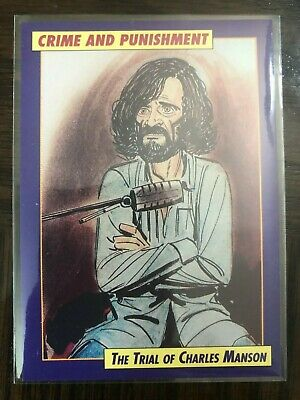CHARLES MANSON 1992 Eclipse Crime And Punishment PROTOTYPE Card #1 PROMO