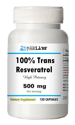 Trans Resveratrol 500mg Serving 120 Capsules - =SALE= Ship from USA