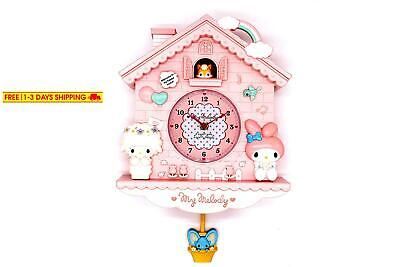 Rustic Golbary Gifts Cuckoo Nursery Wall Clock Pink With Pendulum Mouse House Wi
