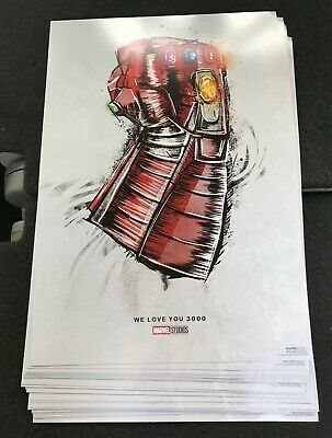 "Avengers Endgame Official Re-Release Movie Poster ""We Love You 3000"" Poster"