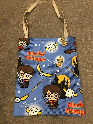 library/book bag Harry Potter mischief managed print