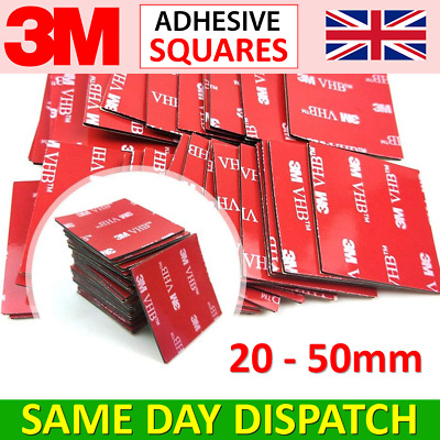 3M Double Sided Sticky Pads - Adhesive Tape Dash Cam/GoPro Sticker Mounts