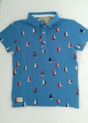 BNWT Next Boys Boat All Over Print Shirt Age 4-5 years
