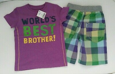 BNWT Next Boys T-shirt and Shorts Set Age 2-3 years