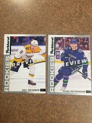 2018-19 Upper Deck Parkhurst Rookies 2 Card Lot