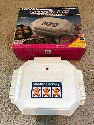Vintage Rival Cookie Factory Cookie and Snack Maker in box