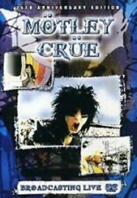 Motley Crue - Broadcasting Live (music dvd) NEW & SEALED UK RELEASE FREE P&P