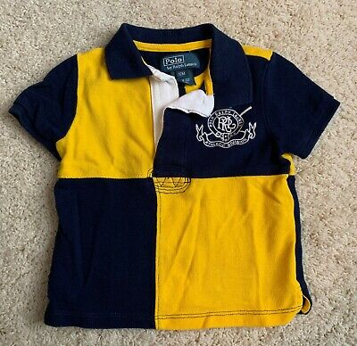 EUC Polo by Ralph Lauren Baby Boy Navy Yellow 12 month Polo