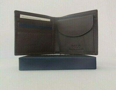 RALPH LAUREN POLO BROWN LIGHT PEBBLE LEATHER WALLET with COIN POCKET