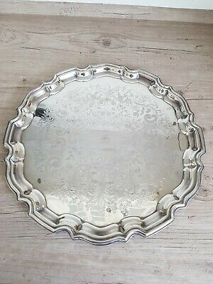 Good Vintage Silver Plated Tray with Gadroon Edge