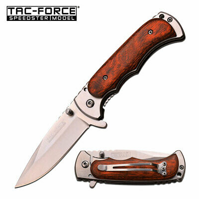 """TAC FORCE SPRING ASSISTED TACTICAL PEARL HANDLE FOLDING POCKET KNIFE Open 7.0"""""""