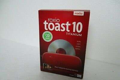 ROXIO TOAST 17 Titanium (Mac) FULL SOFTWARE - DVD BluRay Burner