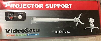 VIDEOSECU PROJECTOR SUPPORT CEILING MOUNT, WHITE, Model PJ2W, ***NIB***
