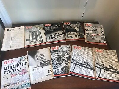Estate Vintage QST Magazines 1964 1965 Amateur Radio ARRL Magazine LOT SET