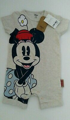 BNWT Next Baby Girl Minnie Mouse Romper Age 9-12 months