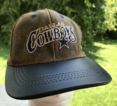de72a915e80d35 VINTAGE DALLAS COWBOYS Leather SnapBack Hat Cap NFL Football Modern ...