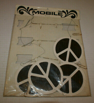 Vtg Vintage NIP Mobile Paper Late 1960s Psychadelic Peace Symbols New Made USA