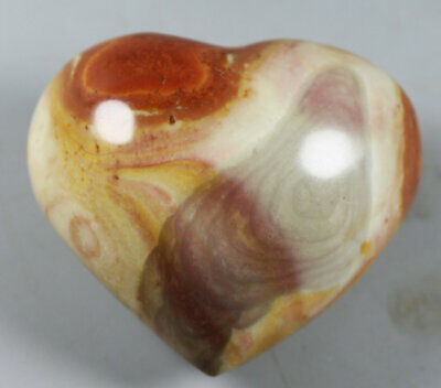 NATURAL POLISHED POLYCHROME JASPER HEART From Madagascar 159g