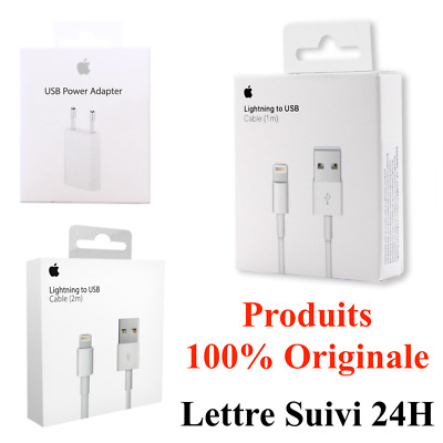 Chargeur Apple Ou Cable 1M / 2M Usb Iphone 5/5C/5S/6/6S/7/8/X/Xr