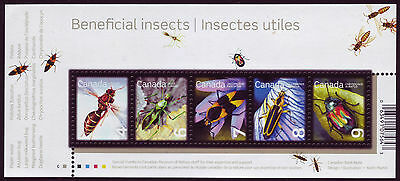 CANADA 2010 Beneficial Insects, #2410a Souvenir Sheet, with 4c 6c 7c 8c 9c MNH